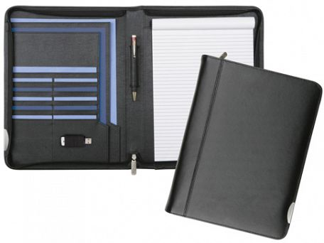 Dorchester Zipped Leather Conference Folders