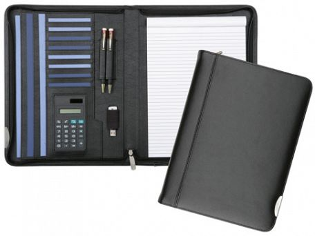 Dorchester Deluxe Zipped Leather Conference Folders