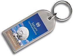 Large Arch Epoxy Domed Stainless Steel Metal Keyrings